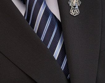 Dalmatian brooch - sterling silver