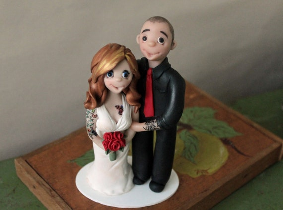 tattooed wedding cake toppers wedding cake topper with tattoos personalized by 20759