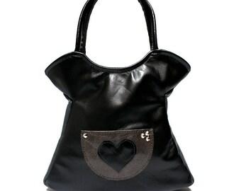 SALE Minimalist unique novelty elegant bag, messenger purse, leather bag, leather purse, cross body bag - minimalist leather black dress