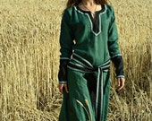 """DISCOUNTED PRICE! Medieval Lady Tunic """"Green Fairy"""""""