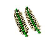 V A N E S S A Kelly Green Earrings