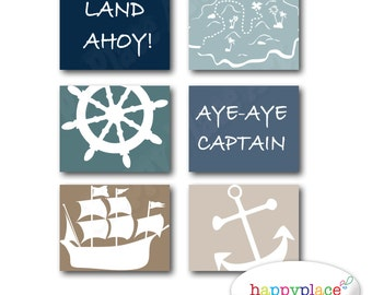 Pirate Wall Art Set of Posters for Boys Bedroom or Nursery. 8x10 or 11x14in Instant Download digital files-Colour 7