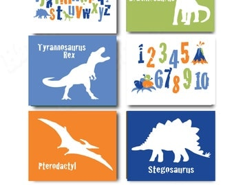 Perfect CUSTOM Dinosaur Art For Boys Bedroom With Alphabet And Numbers. Printable Wall  Art For Childu0027s Part 4