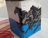 Horse Hanji Pen Holder OOAK Handmade Pencil Case for Desktop - HanjiNaty