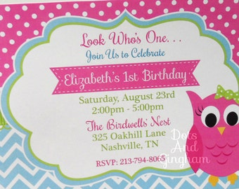 Owl Invite-Owl Invitation-Owl Birthday Invite-Birthday Owl Party Invitation-Owl Birthday Party Invitation, Owl Party, Birthday Owl Invite