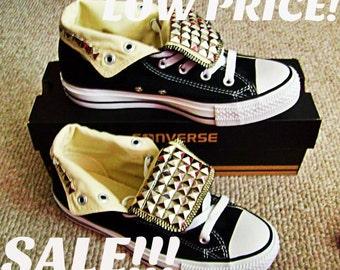 SALE!!!Studded Converse Shoes