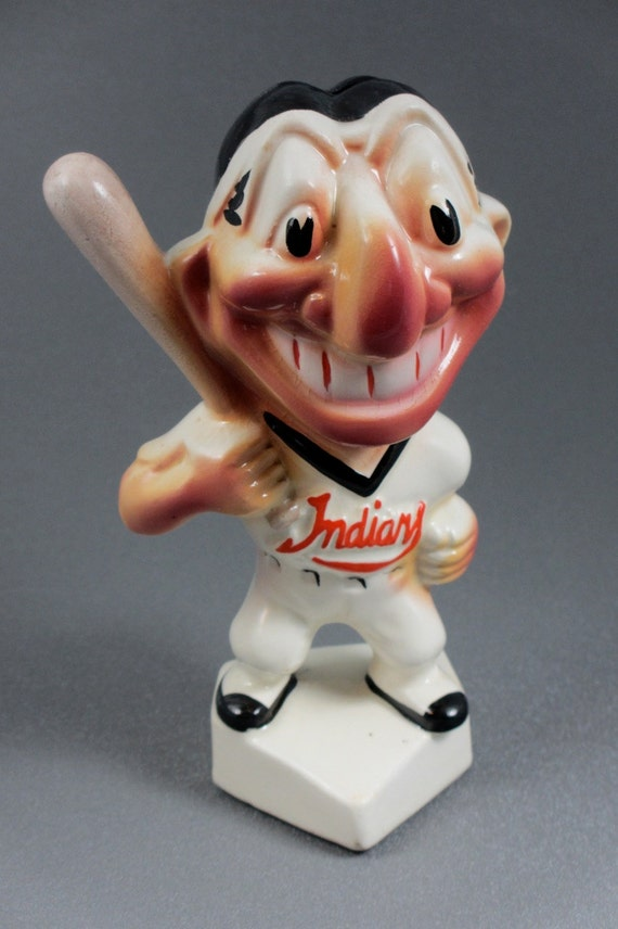 Vintage 1950 S Cleveland Indians Chief Wahoo Gibbs Conner