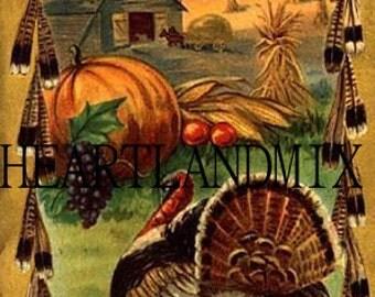Thanksgiving Digital Image of Turkey