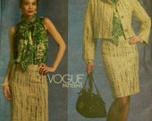Jacket, Skirt & Blouse by Badgley Mischka - 2000's -  Vogue Platinum Pattern 1127  Uncut   Size 14-16-18-20  Bust 36-38-40-42""