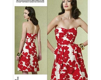 Strapless Dress by Cynthia Steffe - 2000's - Very  Pattern 1174 Uncut  Sizes 4-6-8-10, 12-14-16-18