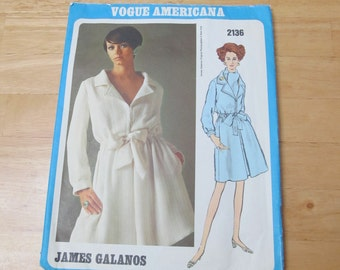 1969 Vogue Americana James Gallanos pattern, label included, size 10, bust 32.5