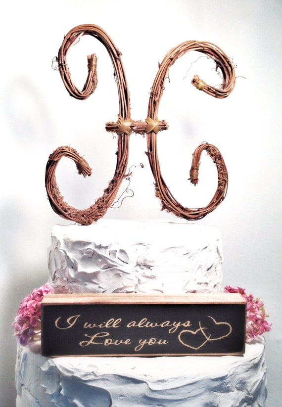 letter e wedding cake toppers letter h rustic wedding cake topper by theoriginaltwig on etsy 16833