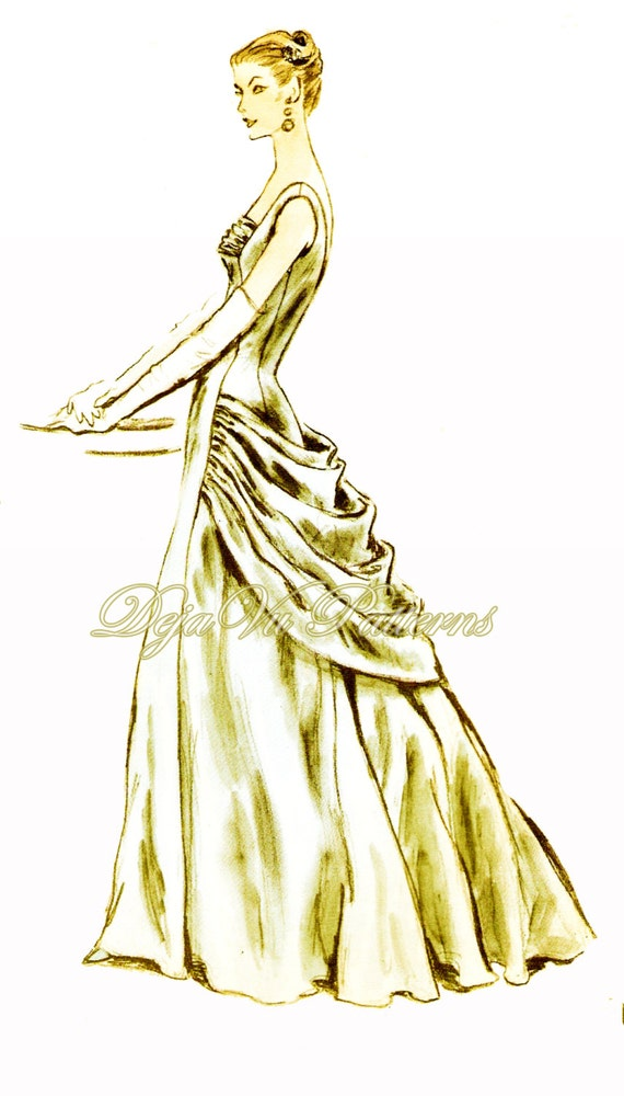 Vogue 884 Evening Dress Sewing Pattern Vintage By