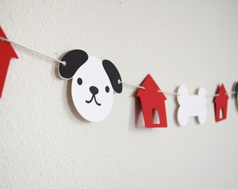 Puppy and houses Garland 5'
