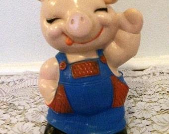 Vintage Pig Resin Piggy Bank