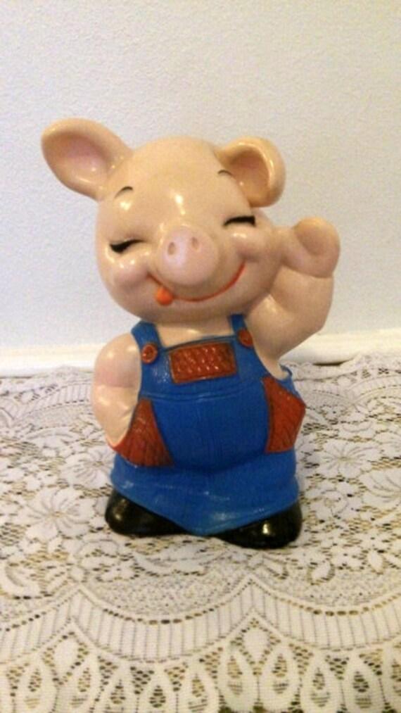 Vintage pig resin piggy bank - Resin piggy banks ...
