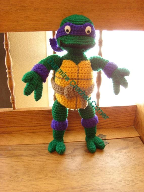 Ninja Turtle Crochet Amigurumi : Crochet Amigurumi Teenage Mutant Ninja Turtles Made to Order