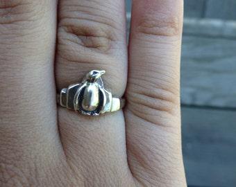 Sterling Silver Penguin Ring