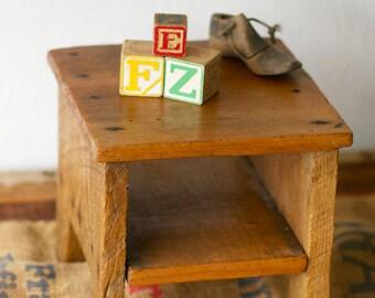 Vintage Wooden Stool Storage