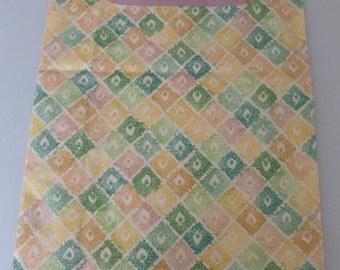 SALE - Pastel Diamond Pattern Reusable Grocery Bag