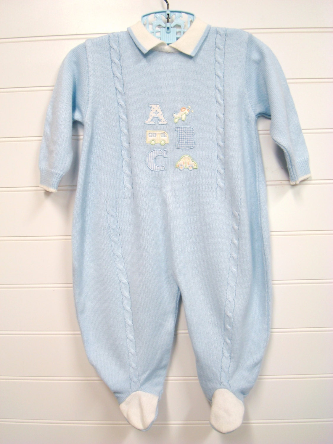 vintage baby clothes baby boy knit romper with