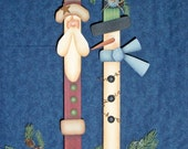 CC145 Santa and Snowman Paint Sticks E Pattern - CyndiCombsDesigns