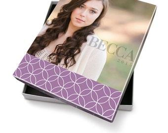 Senior Photo Image Box - Artsy Couture 8x10 Box Template - 1219