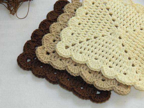 Crochet Dish Cloths ~ Scalloped Wash Cloths