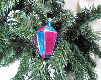 Vintage Mercury Lantern Shape Christmas Ornament Poland