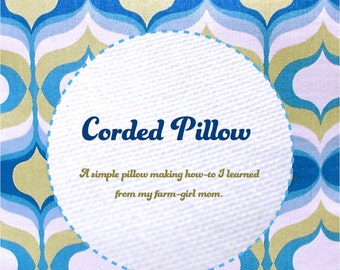 Corded Pillow downloadable eBooklet