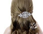 Wedding Hair Clip Wedding Barrette Rhinestone Hair Clip Bridal Barrette Wedding Jewelry Wedding Accessory Bridal Jewelry Headpiece Aimee