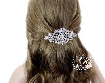wedding hair clip wedding barrette rhinestone hair clip bridal barrette wedding jewelry wedding accessory bridal jewelry