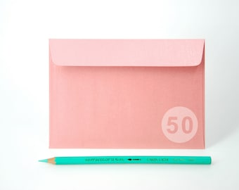 "BULK 4x6 Metallic Pink Envelopes for A6 cards - (Pack of 50) - The actual size is 4 1/2""x6 3/8"""