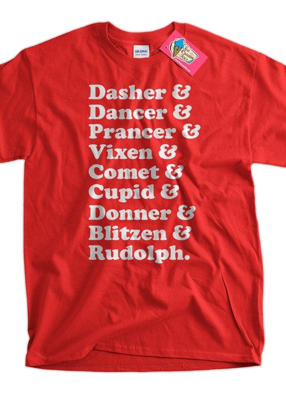 df469e7c85588 Funny Reindeer Names Christmas T-Shirt Tee Shirt T Shirt Geek