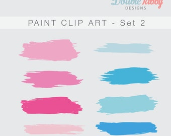 Paint Clip Art instant download transparent png personal and commercial use SET 2