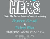 His & Hers 5x7 couples shower invitation -- DIGITAL FILE