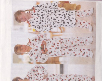 Butterick 5853 CLEARANCE VIntage Pattern Boys or Girls Pajamas Size 2-6 XS-M