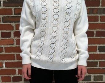 60s Alfred Dunner Cream Turtleneck Sweater