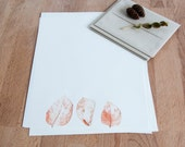 Letter Writing Set / Letter Writing Paper / Orange Fall Leaves / Letter Stationery / Stationary Set / Autumn