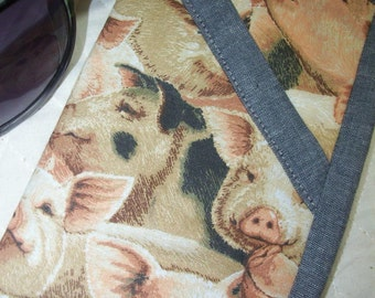Pig Eyeglass Case, Sunglass Case