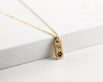 Dog Lover Necklace, Pet Jewelry, Dog Paw, Pet Necklace with Dog Charm, Personalized Dog Necklace, Pet Loss Gift, Dog Jewelry, Paw Necklace