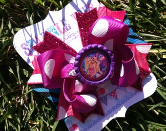 Princess and The Popstar Bow - Keira popstar - Barbie bow - Barbie Birthday - Barbie Party - Girls hair bows - Keira Costume