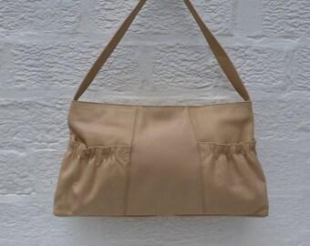 Purse leather handbag womans bag ladies creme leather bag 90s accessories womens purse 90s bag vintage handbag Tula bag ladies purse cream.