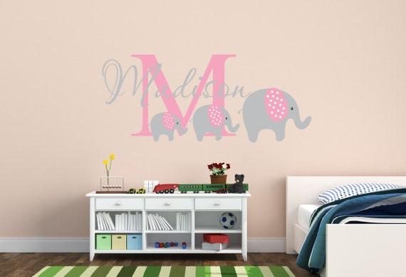 ... Name Aufkleber Elefanten Kinderzimmer Dekor   Kinderzimmer Teen Name  Wand Aufkleber Elefant Aufkleber Kinderzimmer Wand Dekor Kinderzimmer  Wandtattoo