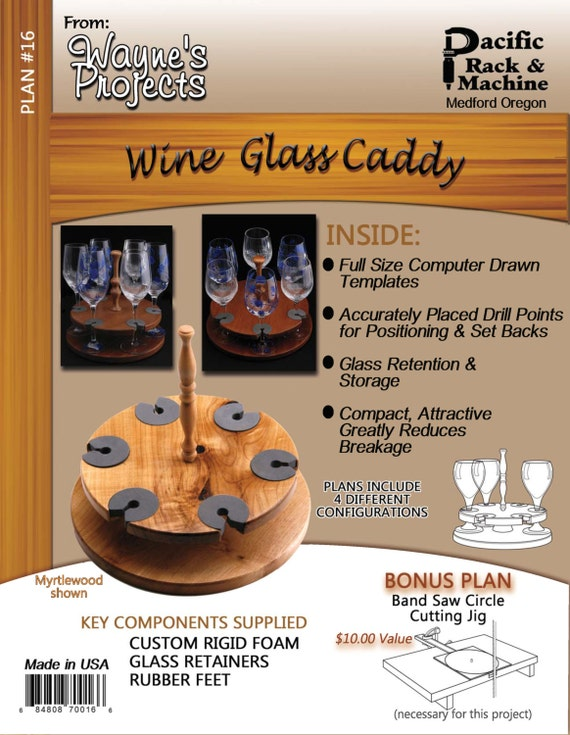 Wine Glass Caddy Plans