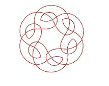 Machine Embroidery Design Instant Download- Celtic Knotwork Medallion 4 (single) Quilting Redwork