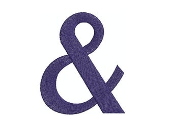 Machine Embroidery Design Instant Download - & Ampersand 1 And Sign