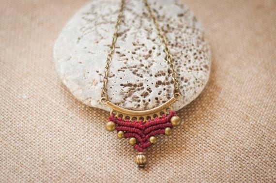 Red chevron pendant