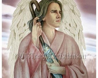 St. Raphael the Archangel Art Print Catholic Patron Saint. Guardian Angel #4160