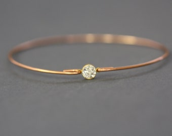 BIG SALE -Gold Swarovski Crystal Stone,Gold Crystal Bracelet,Beautiful Gold Bracelet,Cute Bangle,Modern Jewelry.# 501 -